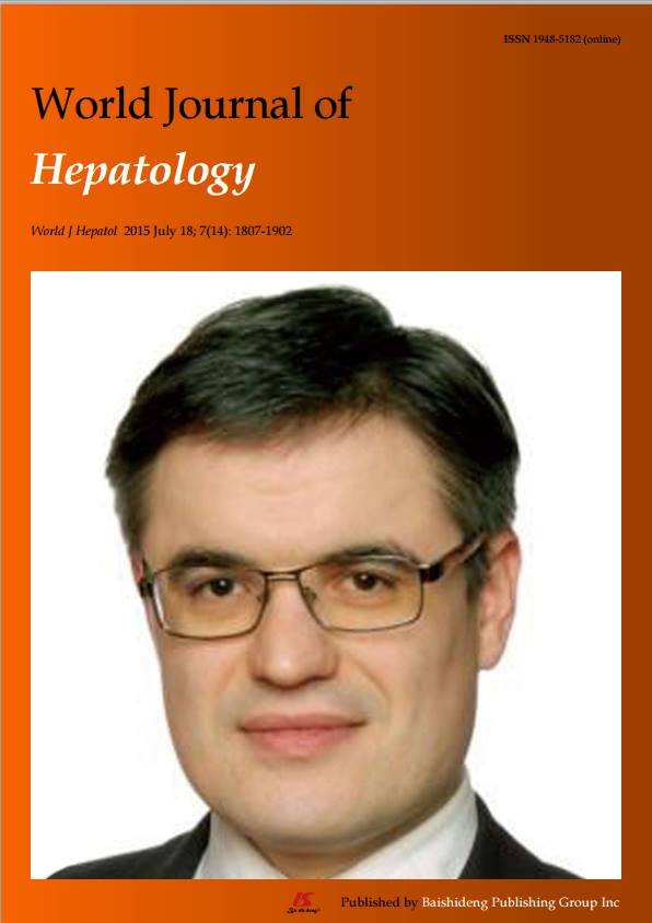 Cover of World J Hepatol 2015 volume 7 issue 14