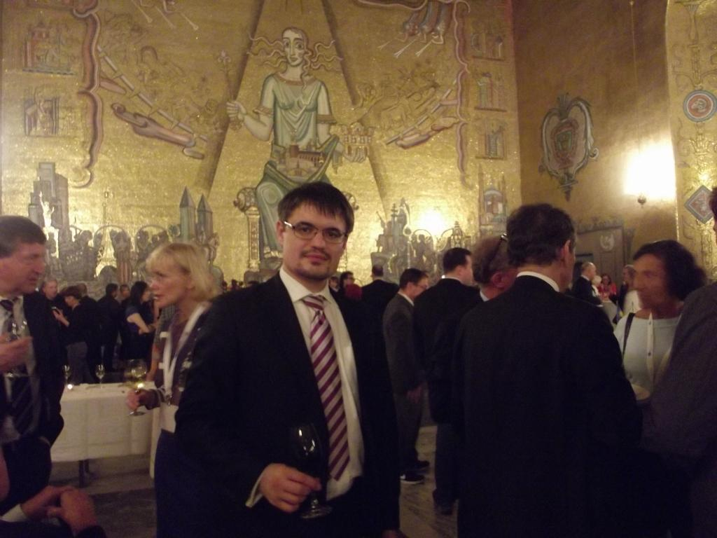16th Congress of the EFNS in Stockholm, City hall (Place of Nobel Prize award ceremony), Golden Hall